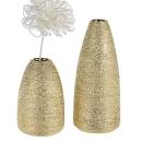 Casablanca Vase Miro goldfarben glasiert H.20cm...
