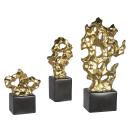 Casablanca Skulptur Nugget schwarz/gold H.27cm...
