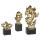Casablanca Skulptur Nugget schwarz/gold H.27cm  Höhe: 27 cm  Breite: 13 cm  Tiefe: 8 cm 56116
