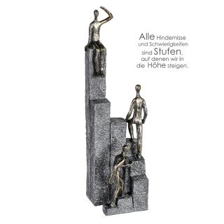 Casablanca Skulptur Climbing Poly,broncefarb.  Höhe: 39 cm  Breite: 10 cm  Tiefe: 11 cm 79902