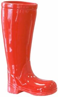 Casablanca Schirmständer Stiefel Ker.rot H.45cm  Höhe: 45 cm  Breite: 26 cm  Tiefe: 11 cm 86764