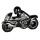 Casablanca Motorrad,Keramik,schwarz/silber L.37cm  Höhe: 24 cm  Breite: 37 cm 96337