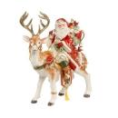 Goebel Santa auf Hirsch Fitz & Floyd Christmas...