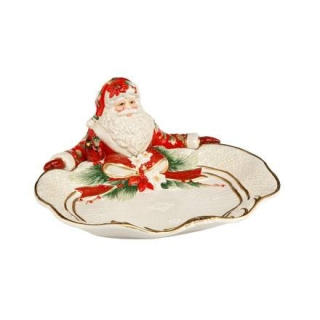Goebel Schale Santa präsentiert Fitz & Floyd Christmas Collection 51000911