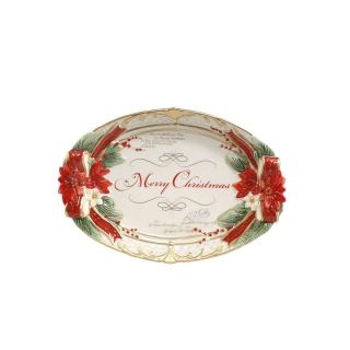 Goebel Schale Weihnachtsstern Fitz & Floyd Christmas Collection 51000901