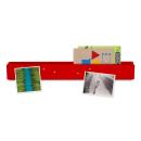 Romanowski Design Magnetwand aus Metall,rot mit Fach...
