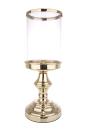 Gilde Windlicht mit Glas gold mit Spiegelplatte, Glas 10...
