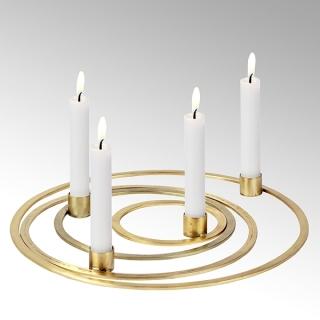 Lambert Areum Kerzenhalter Set Eisen matt gold 40975
