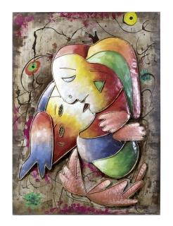 """Gilde Bild """"Maestro"""" Kunstobjekt """"Gilde Gallery"""" Handarbeit L= 5,0 cm B= 75,0 cm H= 100,0 cm 38989"""