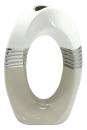 Gilde Lochvase  Brazil  weiß silber creme L= 8,0 cm...