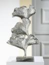 "Skulptur ""Ginkgo"" silber L= 12,5 cm B= 24,0 cm H= 40,0 cm"