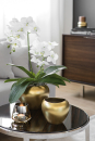 Fink AVA Vase,Keramik,gold  Höhe 15cm, Ø 20cm...