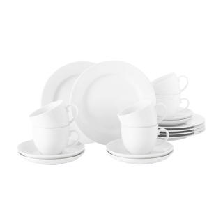 Seltmann & Weiden Rondo/Liane Kaffeeservice 18-teilig weiss  001.741310