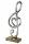 Notenschlüssel mit Herz aus Base Base aus Mangoholz L= 7,0 cm B= 15,0 cm H= 39,0 cm
