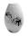 """Gilde Vase bauchig """"Putumayo""""  weiß/silber  Länge 24,5 cm Breite 16,5 cm Höhe 16,5 cm 47033"""