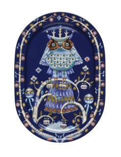 Iittala Taika Servierschale Oval - 41 cm - Blau