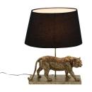 Voss Design Lampe Tischlampe Tiger Gold Schwarz 60 cm...