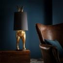 Dekoria Lampe Rabbit Gold 117cm 40 × 40 × 117 cm