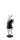Kaheku Figur Valento Hase mit Ei, H= 25,5 cm  schwarz weiss Polyresin 994013813
