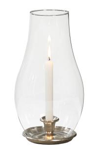Kaheku Kerzenhalter Candelero silber, Ø 16 cm  Metall Klarglas  99990403