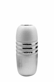 "Vase rund ""Silvino"" silber L= 13,5 cm B= 13,5 cm H= 25,5 cm"
