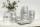"Vase rund ""Silvino"" silber L= 15,0 cm B= 15,0 cm H= 34,5 cm"