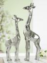"Gilde Giraffe ""Angular"" silber L= 5,5 cm B= 10,0 cm H= 38,0 cm 60317"