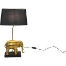 Tischlampe Elefant gold schwarz 63,5 cm hoch Tischleuchte...