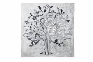 """Gilde Gemälde """"Lebensbaum"""" handgemalt mit Aluminium-Elementen L= 3,0 cm B= 90,0 cm H= 90,0 cm 38030"""