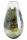 """Gilde GlasArt Kegelvase """"Florenz"""" grün/braun/klar L= 18,0 cm B= 18,0 cm H= 33,5 cm 39110"""