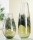 "Gilde GlasArt Vase ""Florenz"" grün/braun/klar L= 17,0 cm B= 17,0 cm H= 48,0 cm 39111"