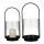 """Casablanca Windlicht """"Lantern"""" Metall / Glas . schwarz / klar  H: 35 cm B: 16.50 cm T: 15.50cm 84086"""
