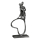"""Casablanca Design-Skulptur """"Stand by me"""" Eisen . silberfarben . Antikfinish Pärchen mit Herz mit Spruchanhänger H: 23 cm B: 11 cm T: 5cm 84119"""