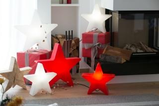 8Seasons Shining Star Ø 40 cm (rot) 32350