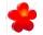 8Seasons Shining Flower Ø 40 cm (rot) 32405