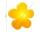 8Seasons Shining Flower Ø 40 cm (solar/ gelb) 32407S