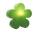 8Seasons Shining Flower Ø 40 cm (grün) 32408