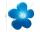 8Seasons Shining Flower Ø 40 cm (solar/ blau) 32410S