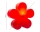 8Seasons Shining Flower Ø 60 cm (rot) 32269