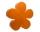 8Seasons Shining Flower Ø 60 cm (orange) 32275