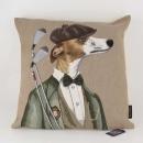 Mars&More gobelin kissen golf hund herr 45x45cm EVKSGHH