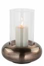 Fink Delphi, Windlicht mit Glas, Eisen, antik bronze,...
