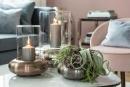 Fink Delphi, Windlicht mit Glas, Eisen, antik grau,...