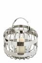 Fink Cameron, Windlicht mit Glas, Edelstahl , Glas,...