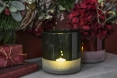Fink TRENTO Vase,Windlicht,grün,transparent...