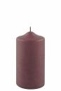 Fink Candle, Kerze, Paraffin, bordeaux, H= 15 cm,...
