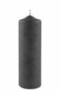 Fink Candle, Kerze, Paraffin, grau, H= 25 cm, Ø 8...