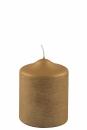 Fink Candle, Kerze, Paraffin, gold, H= 10 cm, Ø 8...