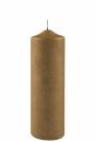 Fink Candle, Kerze, Paraffin, gold, H= 25 cm, Ø 8...