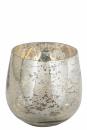 Fink MARY Windlicht,Glas,antik silber  Ø 12,5,...